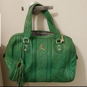 L.A.M.B. Gwen Stefani Green Handbag